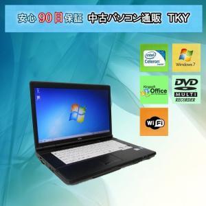 中古 ノートパソコン  中古パソコン FUJITSU FMV-A552/E Celeron/2GB/250GB(DtoD)/無線/DVDマルチ/Windows7|pctky
