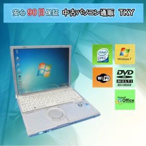 中古パソコン 中古ノートパソコン  PANASONIC Let's NOTE CF-W9 Core2Duo /2GB/320GB(DtoD)/無線/マルチ/Windows7|pctky