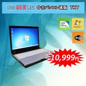 中古 ノートパソコン  中古パソコン Core2世代Celeron FUJITSU P771/D/2GB/160GB/無線/Windows7 pctky