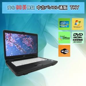 中古 ノートパソコン  中古パソコン FUJITSU LIFEBOOK A550/A Core i5/4GB/160GB/無線/DVDマルチドライブ/Windows7|pctky