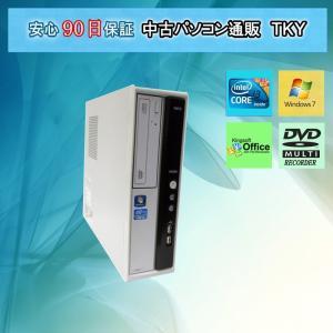 中古 パソコン 中古デスク Core i3搭載 NEC ML-B/2GB/160GB/DVDマルチ/Windows7|pctky