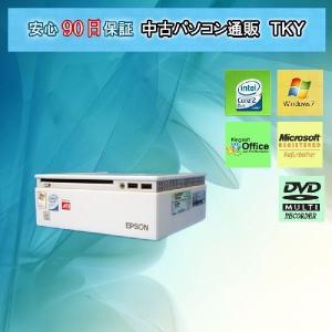 【中古パソコン】【中古デスク】EPSON Endeavor ST100 Core2DuoT7200 2.0GHz/2GB/80GB/マルチ/Win7|pctky