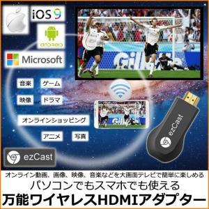 日本語取説書付き モニターレシーバー HDMI EZCast ワイヤレス  HDMIアダプター ドングルレシーバー iphone アンドロイド PC テレビ モニター スマホ 転送|pctky