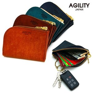 コインケース カードケース ダブルファスナー L字ファスナー キーリング レザー 革 AGILITY affa アジリティアッファ ペール pdd