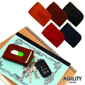キーケース メンズ カードケース L字ファスナー パスケース キーケース付パスケース 革 レザー AGILITY affa アジリティ アッファ ロッシュ|pdd