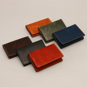 名刺入れ カードケース ササマチ 50枚 本革 ビジネス 仕事 シンプル メンズ AGILITY affa アジリティアッファ コトー|pdd