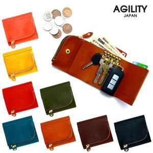 財布 三つ折り キーケース 5連 スマートキー 本革 レザー 一体型 AGILITY affa アジリティアッファ アンブルジェ|pdd