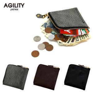 L字ファスナー 財布 薄型 折財布 コンパクト ハーフウォレット ミニ財布  AGILITY affa アジリティ アッファ スクエアウォレット|pdd