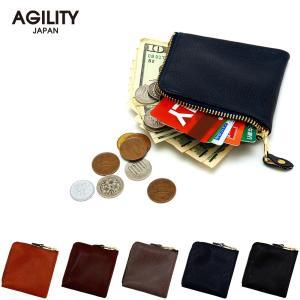 ハーフウォレット コインケース カードケース ミニ財布 コンパクト財布 小さい財布 L字AGILITY affa アジリティ アッファ スクエアウォレット|pdd