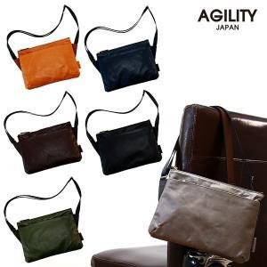 サコッシュバッグ メンズ  本革 レザー ショルダー 軽量 財布 おしゃれ 日本製 AGILITY affa アジリティ アッファ ペガーズサコッシュバッグ|pdd