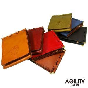 二つ折り財布 革 メンズ 折財布 ハーフウォレット AGILITY affa アジリティ アッファ バリエール|pdd