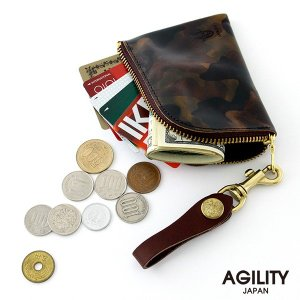 コインケース 本革 カードケース 日本製 迷彩 カモフラージュ ユニセックス AGILITY affa アジリティ アッファ アルジャン|pdd