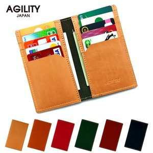 カードケース 本革 レザー 二つ折り 薄型 薄い 縦 スリム カード入れ  AGILITY affa アジリティアッファ ディジエム|pdd