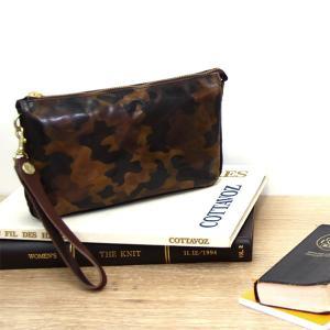 クラッチバッグ セカンドバッグ 日本製 バッグインポーチ 迷彩 カモフラージュ 本革 レザー AGILITY affa アジリティ アッファ プランドル|pdd