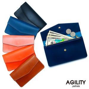 長財布 ロングウォレット シンプル フラット 薄型 革 レザー フラップ イタリアンレザー AGILITY affa アジリティアッファ ミラン|pdd