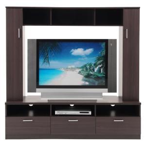 テレビ台150cm ブラック 50インチ対応 壁面収納型 ハイタイプ 鏡面仕上げ テレビボード TV台 TVボード|peace-and-happiness