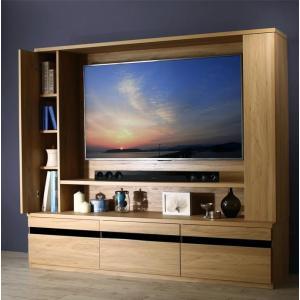 テレビ台180cm ホワイト鏡面 60インチ対応 壁面収納型 ハイタイプ 扉付き テレビボード TV台 TVボード|peace-and-happiness