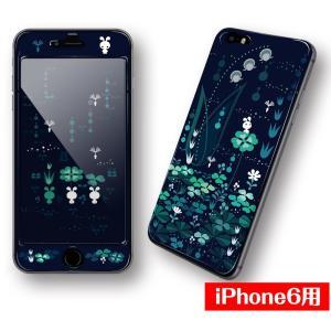 iPhone6専用【四ツ葉】シールと画面がつながる♪デザインプロテクター!!|peace-gsj