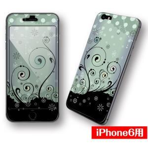 iPhone6専用【MonoChrome】シールと画面がつながる♪デザインプロテクター!!|peace-gsj