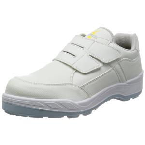 [シモン] 安全靴 短靴 JIS規格 マジック 耐滑 快適 静電気帯電防止 8818N白静電靴 白 24.5 cm 3E|peace-maker