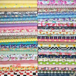 GUQI 50枚 綿 生地 はぎれセット 花柄 DIY手作り カットクロス パッチワーク 布 (20cm x 20cm)|peace-maker