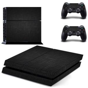 PS4 スキンシール おしゃれ かっこいい シンプル グレー 本体用&コントローラー用×2枚