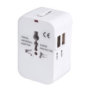 海外安全旅行充電器 コンパクトな コンセント 2USBポート変換プラグ 電源プラグ 旅行アダプター ...