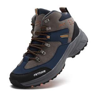 Ashion(アッション) [アッション]ハイキングシューズメンズ防水防滑トレッキングシューズ耐磨耗登山靴アウトドアキャンプシューズ通気性スエード透湿ハイカット|peace-maker