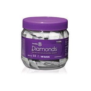 まとめ2箱 ストーマ消臭剤 ダイヤモンド消臭・吸収ゲル化剤 製品番号420791 100袋/箱 2箱 コンバテック ストーマ アクセサリー