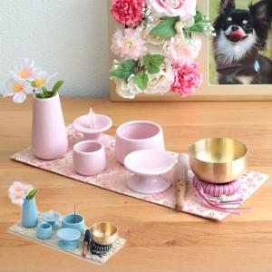 日本製のペット仏具に必要なものがセットになったお得な仏具セット  5具足は、コンパクトなサイズでミニ...