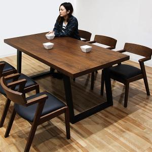 ダイニングテーブルセット 6人用 7点セット 北欧 ウォールナット|peacestore