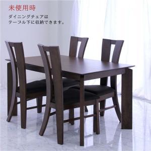 ダイニングテーブルセット 4人掛け 5点 北欧 モダン シンプル おしゃれ 人気|peacestore|03