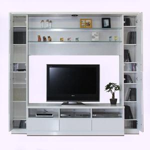 テレビボード ハイタイプ 鏡面仕上げ 壁面収納 幅190 テ...