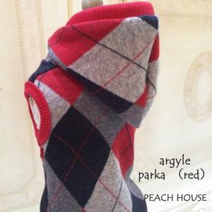 アーガイルパーカー【レッド系】|peach-house2