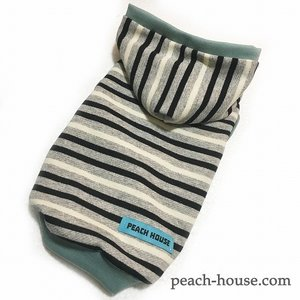 ボーダーパーカーM|peach-house2