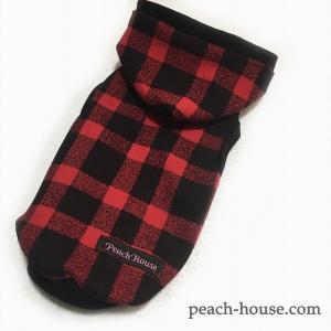 ブロックチェックパーカーR|peach-house2