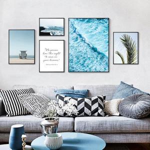 5枚セット アートパネル フレーム絵画 海 カリフォルニア 西海岸 テイスト 写真壁掛け インテリア絵画 ウォールデコ|peachy