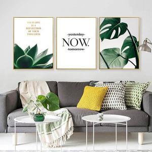 選べる4サイズ アートパネル 3枚セット枠付きフレーム絵画 モンステラ 自然植物 写真風 ロゴ 壁掛け インテリア絵画 ウォールデコ|peachy