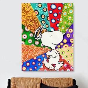 フル ダイヤモンド刺繍 キット ビーズ刺繍 スヌーピー ピーナッツ カラフル モザイクアート パズルアート リハビリ 趣味 絵画 カラービーズ|peachy