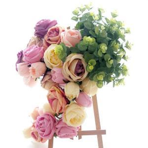 5個以上送料無料  一輪 フラワーヘッド 大きいサイズ ローズ 薔薇 フェイクフラワー 造花 ハンドメイド作品 インテリア イミテーション ディスプレイ|peachy