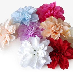 5個以上送料無料 一輪 フラワーヘッド 大きいサイズ フリージア 南国 ハワイアン フェイクフラワー 造花 ハンドメイド作品 イミテーション|peachy