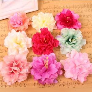 5個以上送料無料 一輪  フラワーヘッド 月季花 キネンシス フェイクフラワー 造花 ハンドメイド作品 インテリア イミテーション ディスプレイ|peachy
