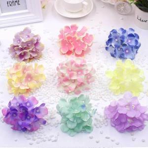 5個以上送料無料 一輪  フラワーヘッド あじさい 紫陽花 フェイクフラワー 造花 ハンドメイド作品 インテリア イミテーション ディスプレイ|peachy