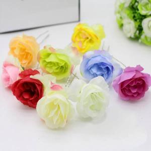 5個以上送料無料 一輪  フラワーヘッド ミニローズ 薔薇 フェイクフラワー 造花 ハンドメイド作品 インテリア イミテーション ディスプレイ|peachy
