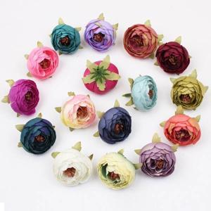 5個以上送料無料 一輪  フラワーヘッド ラナンキュラス つぼみ 蕾 フェイクフラワー 造花 ハンドメイド作品 インテリア イミテーション ディスプレイ|peachy