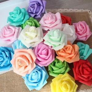 5個以上送料無料 一輪 一輪 フラワーヘッド スポンジ 薔薇 ウレタン素材 バラ フェイクフラワー 造花 ハンドメイド作品 イミテーション ディスプレイ|peachy