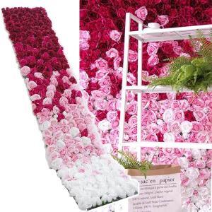 フラワーウォール 花壁 フラワーパネル 空間演出 グラデーション 薔薇 ローズ ウェディング ディスプレイ 壁掛け アーティフィシャルフラワー 造花|peachy