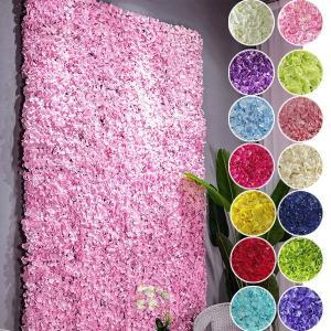 フラワーウォール 花壁 フラワーパネル 空間演出 あじさい ハイドレインジア ウェディング ディスプレイ 壁掛け アーティフィシャルフラワー 造花|peachy