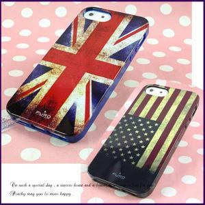 値下げ iPhone5/iPhone5s スマホケース 保護ケース  ビンテージ風 ユニオンジャック 星条旗 シリコンカバー|peachy