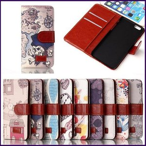 【即納】iPhone6/6s plus  レザーケース 手帳型 お財布 北欧 手書きプリント フリップ スタンド 保護カバー カードホルダー (全9色)|peachy